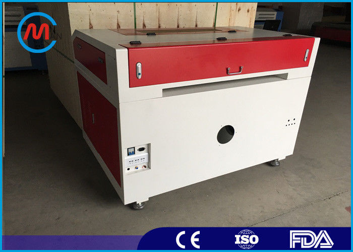 Auto Multi - Function Co2 Leather Laser Cutting Machine Hermetic Tube With Servo Motor