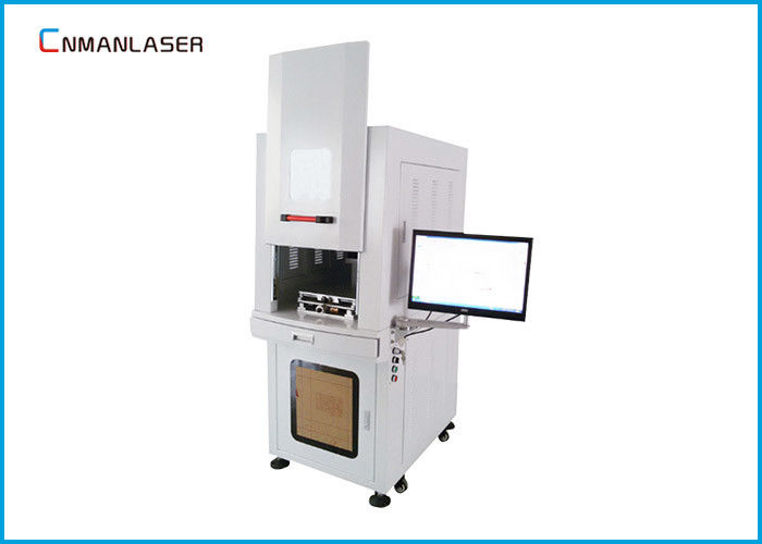Stainless Steel Brass Metal Laser Marking Machine 20w 20kHz~80kHz Frequency