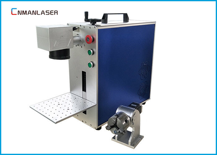 CNC AutomaticMini Metal Laser Marking Machine , Steel Marking Machine With Auto Focus